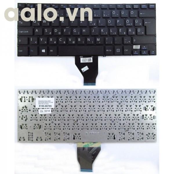 Bàn phím laptop SonySVF14 SVF14A FIT 14, black HUNGARY MAGYAR layout - keyboard Sony