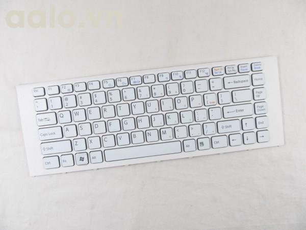 Bàn phím laptop SonyVAIO VPCEA VPC-EA VPC-EA2AFJ VPC-EA2JFX VPC-EA2SGX Keyboard US white - keyboard Sony