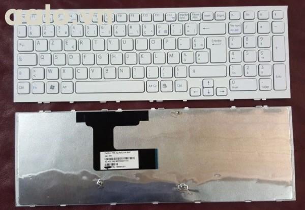 Bàn phím laptop Sony  Keyboard Clavier Francais AZERTY SONY VPC-EL 9Z.N5CSW.B0F 148969351 White Blanc- keyboard Sony