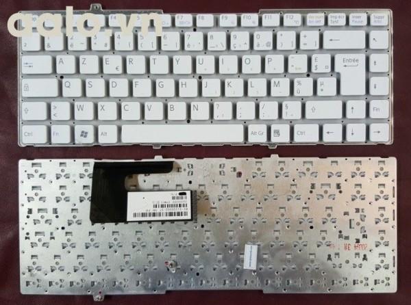 Bàn phím laptop SonyKeyboard Clavier Francais AZERTY SONY VGN-FW 81-31105002-37 White Blanc - keyboard Sony