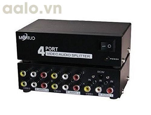 Bộ CHIA tín hiệu Audio Video ( AV ) 1 ra 4