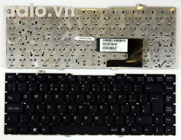 Bàn phím laptop SonyVGN-FW21L Black UK Layout Replacement  - keyboard Sony