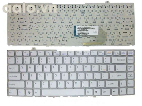 Bàn phím laptop Sony FW trắng