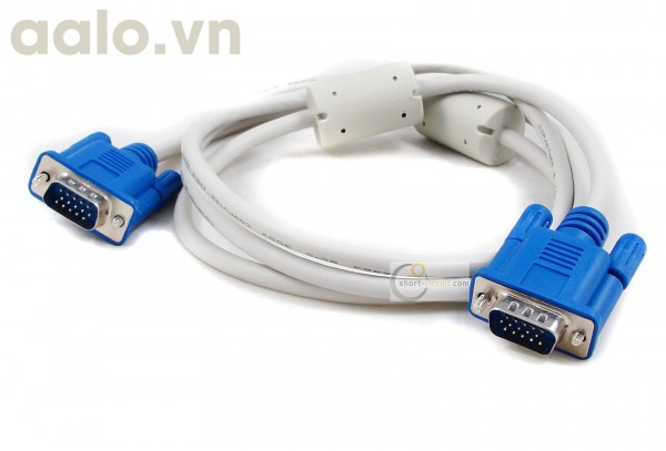 Cable Vga 1.5m trắng xịn