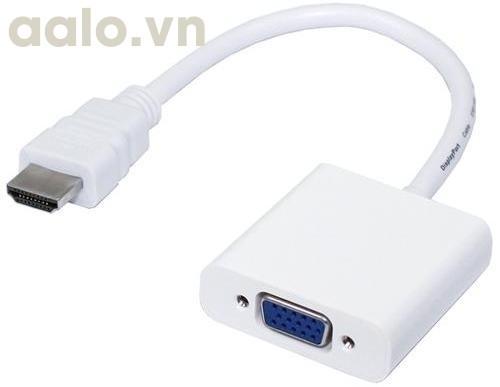 Cáp chuyển đổi HDMI sang VGA Adapter (Trắng)