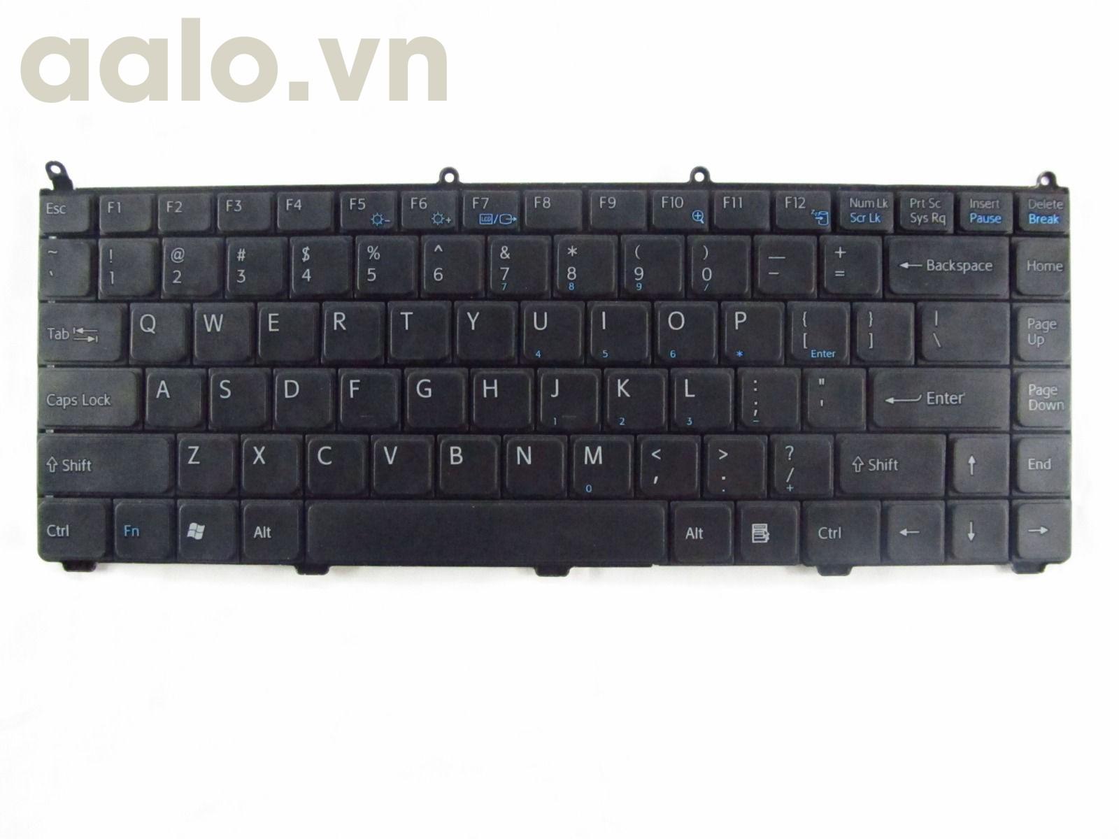 Bàn phím laptop Sony  Vaio VGN-FE550G Black US - keyboard Sony