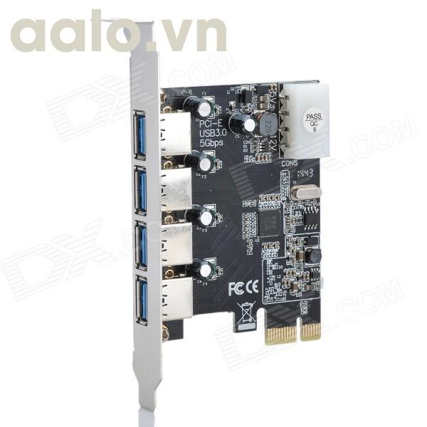 Card PCIEX - USB 4 port 3.0 ( chân nhỏ )