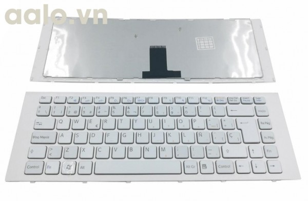 Bàn phím laptop Sony  VPC-EG VPCEG SP Laptop Keyboard With Frame White- keyboard Sony