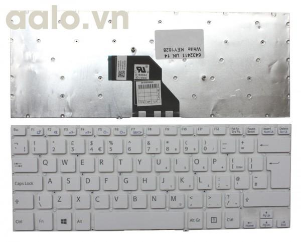 Bàn phím laptop Sony Sony VAIO SVF14N2APXB White Windows 8 UK - keyboard Sony