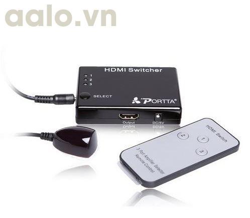 Bộ GỘP HDMI 3 vào 1 ra màn hình ( Có điều khiển )
