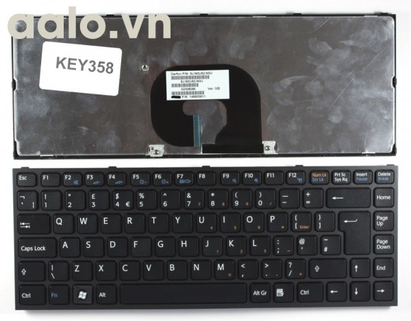 Bàn phím laptop Sony Sony Vaio VPC-Y218 Black Frame Black UK - keyboard Sony