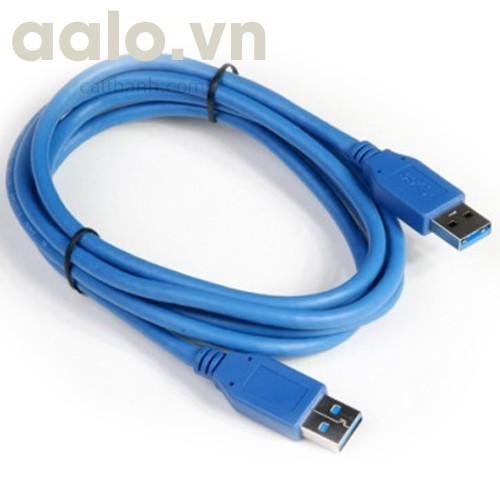 Dây USB - USB cho HDD Box (  2 đầu USB đực ) dài 80Cm