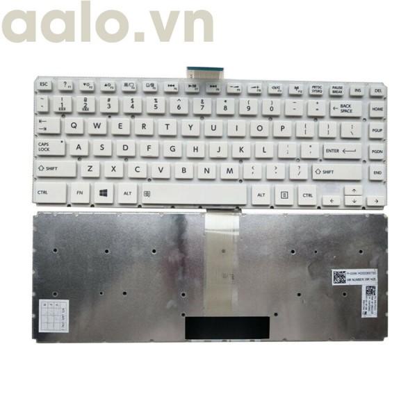 Bàn Phím Laptop Toshiba Satellite L40B L40D-B L40DT-B L40T-B L45B Trắng