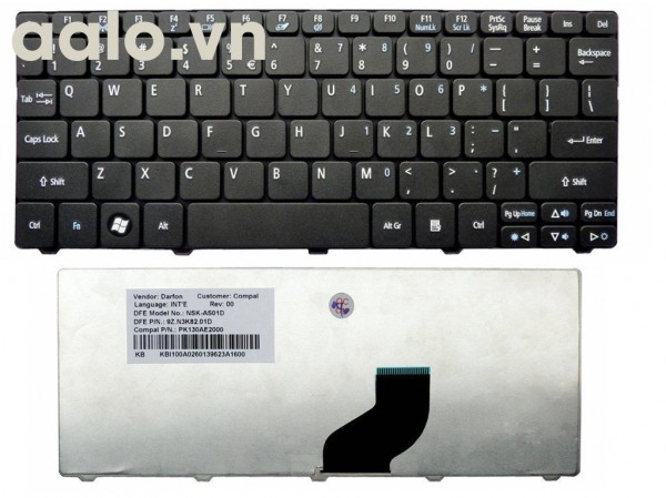 Bàn phím laptop Acer Aspire 5710