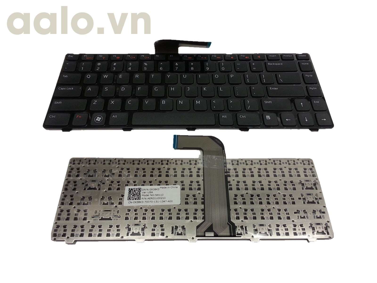 Bàn phím laptop Dell Vostro 3460 3560 Series Laptop US Black Keyboard - Keyboad Dell