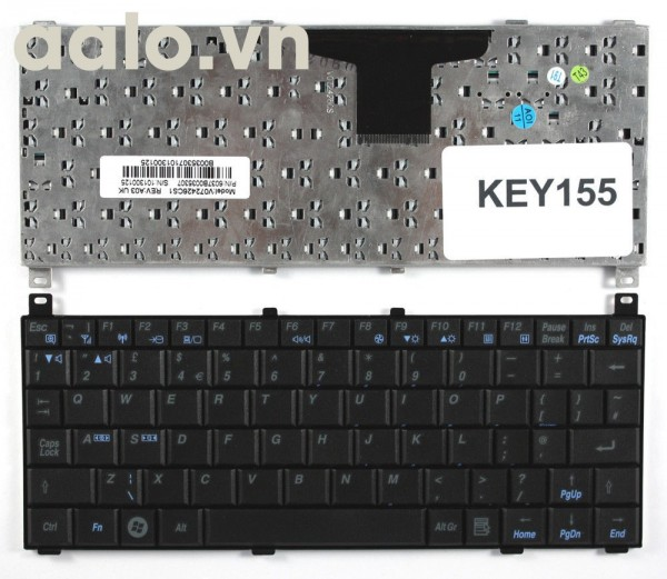 Bàn phím laptop TOSHIBA NB100-01E02H Black UK Layout Replacement Laptop Keyboard - keyboard TOSHIBA