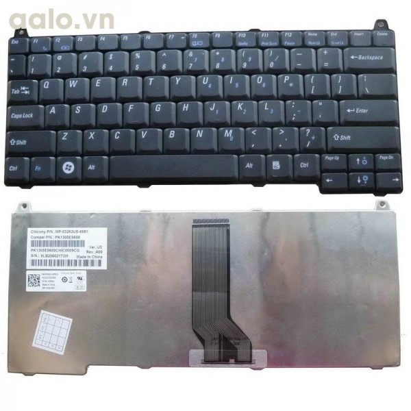 Bàn phím laptop Dell VOSTRO 1510, 1520, 1310, 1320, 2510 - Keyboard Dell