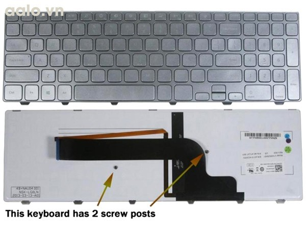Bàn phím Laptop Dell Inspiron 7537 - Keyboard Dell