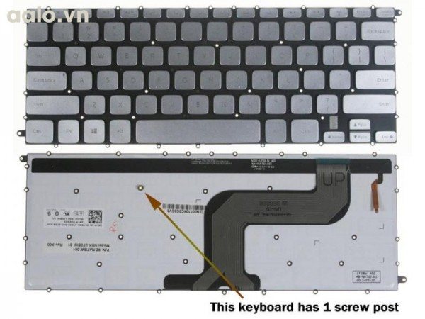 Bàn phím Laptop Dell 14-7437+ ĐÈN LED  - Keyboard Dell