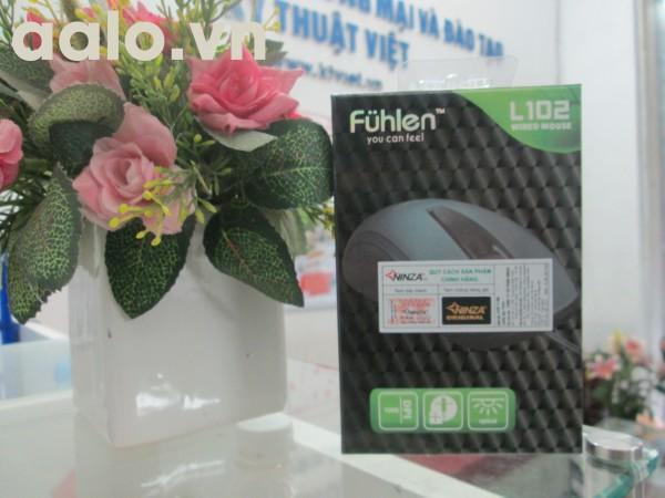 Chuột máy tính Fulhen chính hãng - Mouse Fuhlen L102 Optical Black USB