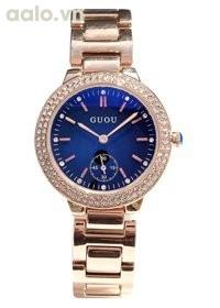 Đồng hồ nữ dây thép GUOU phong cách Âu Mỹ CH270