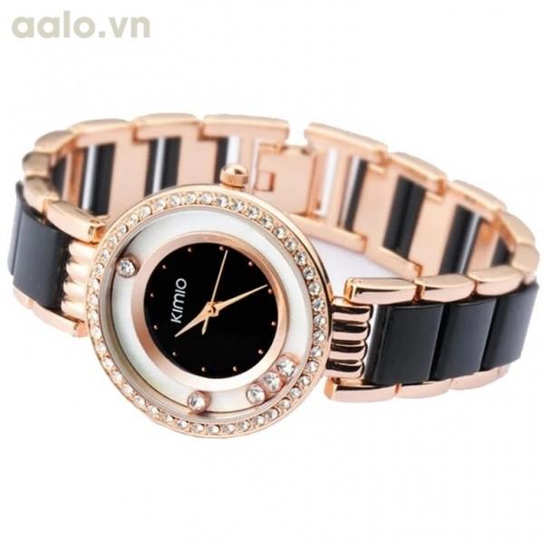 Đồng hồ nữ KIMIO K485G (Đen)