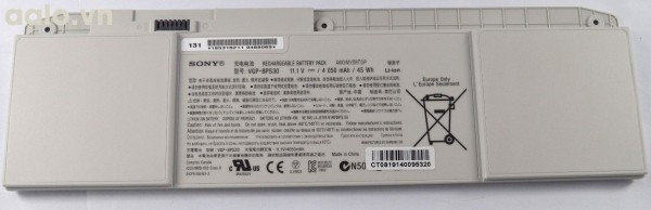 Pin Laptop Sony VAIO BPS30 - Battery Sony