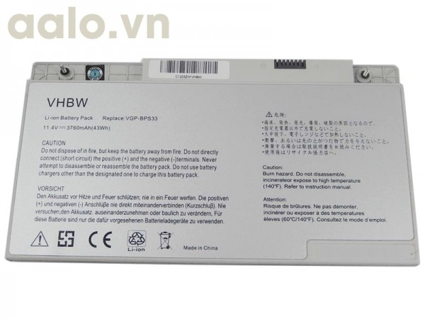 Pin Laptop Sony Vaio SVT14126CVS, SVT14126CVB, SVT14126CV, VGP-BPS33 - Battery Sony