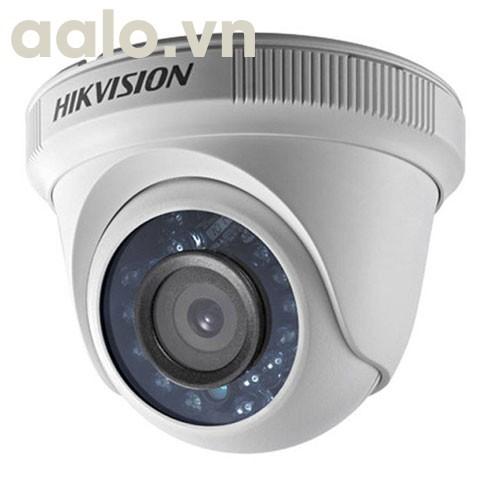 Camera / DS-2CE56H0T-ITPF / HD-TVI  bán cầu hồng ngoại 20m ngoài trời 5MP - vỏ nhựa
