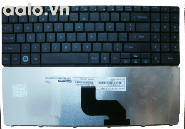 Bàn phím Laptop Acer GATEWAY NV52 NV58 - Keyboard Acer