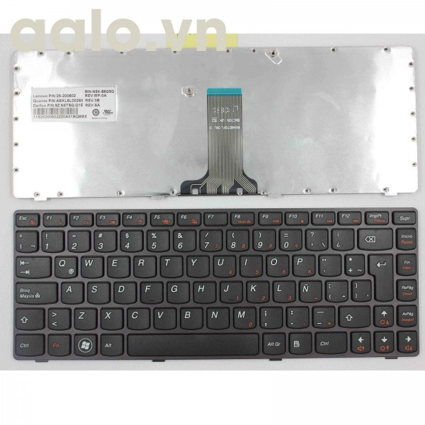Bàn phím laptop Cho Lenovo Z470 AM Z470AT Z470AX Z470K -  Keyboard Lenovo
