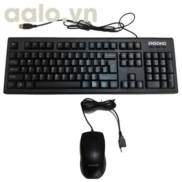 Bộ bàn phím và chuột quang có dây ENSOHO E-103CB