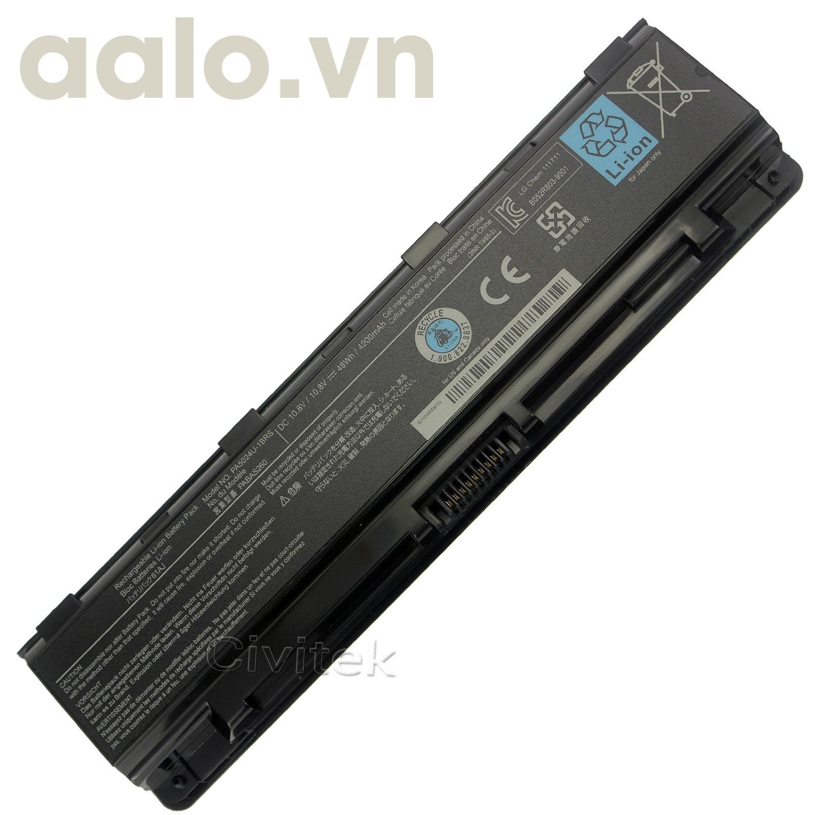 Pin Laptop Toshiba Satellite M50,M55,M70