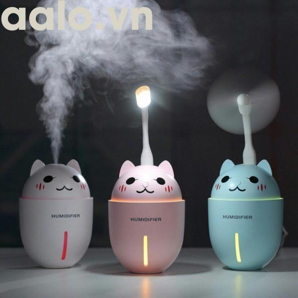 Đèn phun sương kèm đèn ngủ 7 màu ( giao màu ngẫu nhiên)-aalo.vn