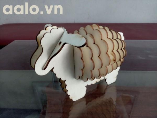 Quà lưu niệm lắp ráp gỗ 3D mô hình cừu dolly