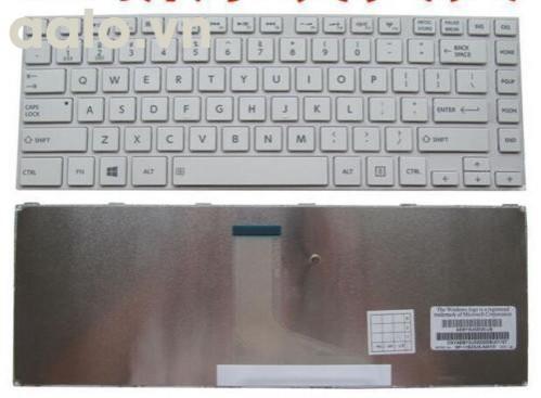 Bàn phím laptop TOSHIBA L840 L845 L840D L845D L800 L805 L830 M800 M805 trắng- Keyboard TOSHIBA