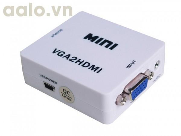Bộ chuyển VGA ra HDMI ( bộ nhựa bản to )