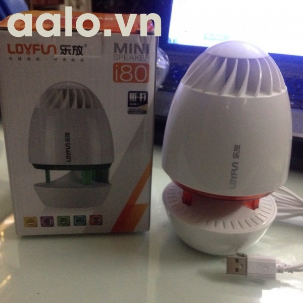 Loa Loyfun I80 chuẩn 2.0 mini ( có đèn LEB ) cấp nguồn USB